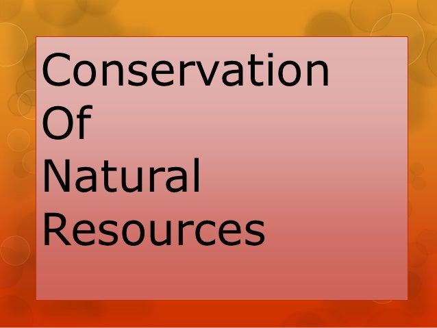 ConservationOfNaturalResources