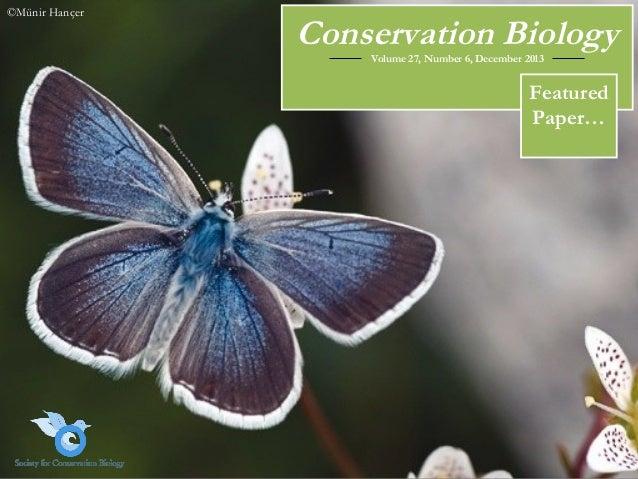 ©Münir Hançer  Conservation Biology Volume 27, Number 6, December 2013  Featured Paper…