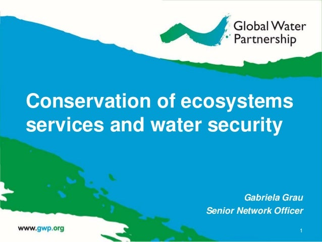 Conservation of ecosystems services and water security Gabriela Grau Senior Network Officer 1