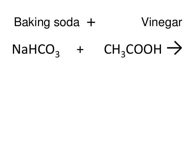 Chemical Formula For Vinegar Science conservation of matter - equation ...