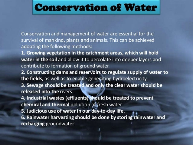 Environment and conservation of resources?