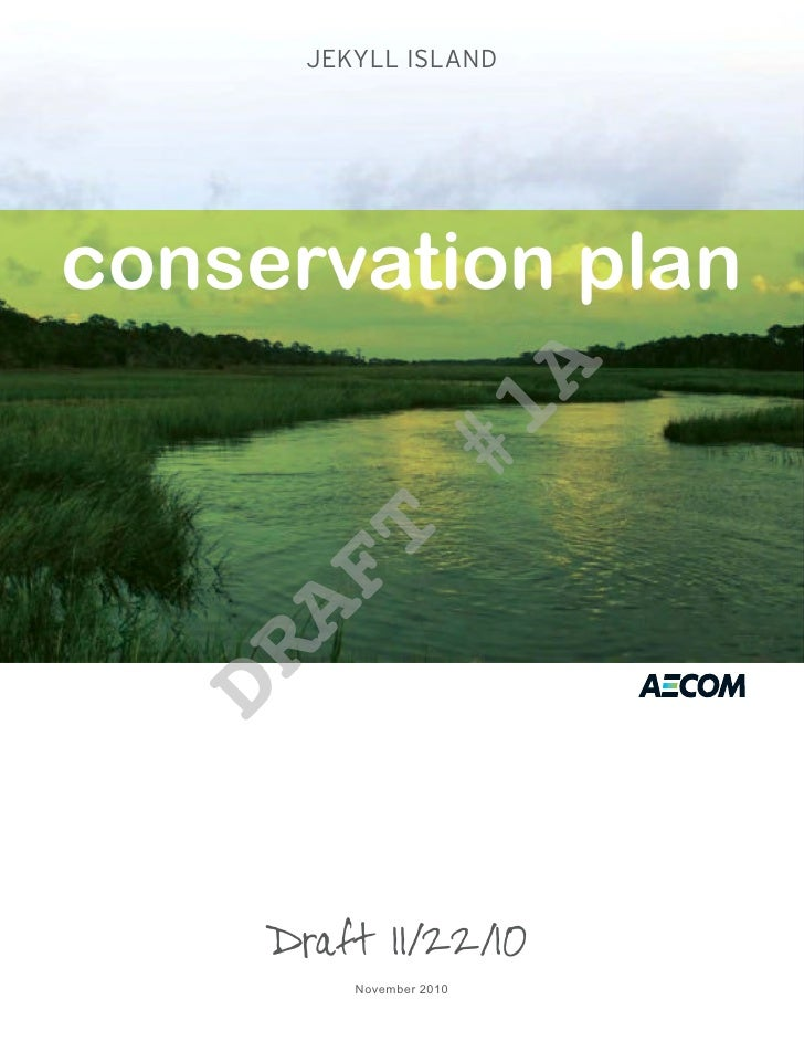 Jekyll Island Conservation Plan Draft 1A