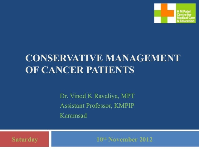 Physiotherapy in cancer