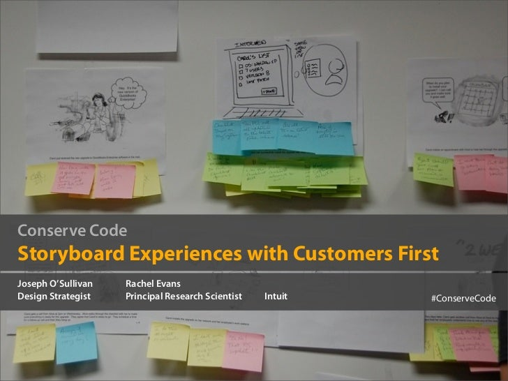 Conserve Code: Storyboard Experiences with Customers First