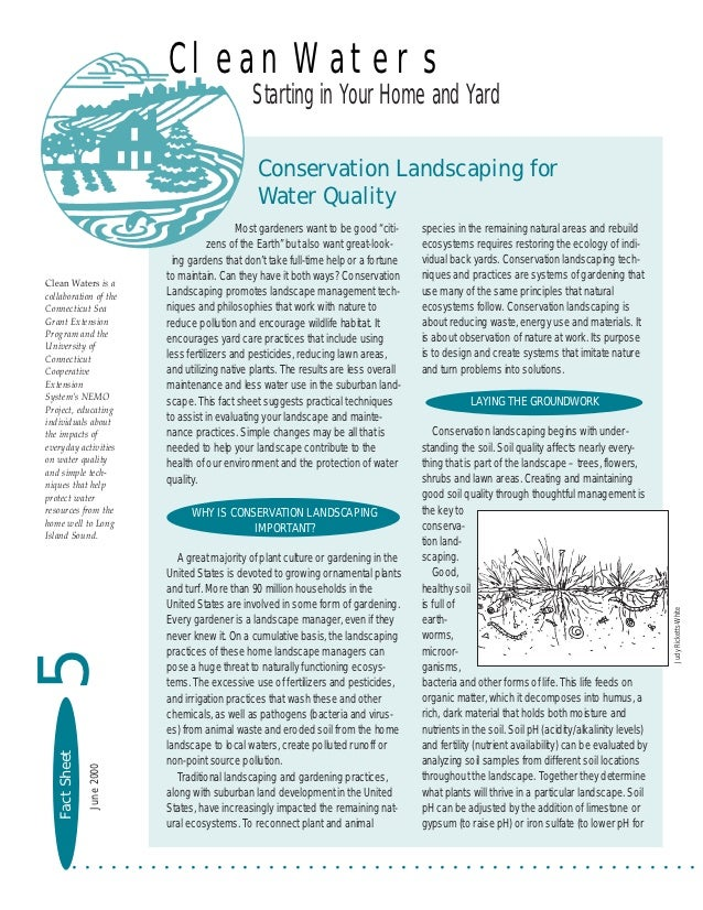 Conservation Landscaping for Water Quality