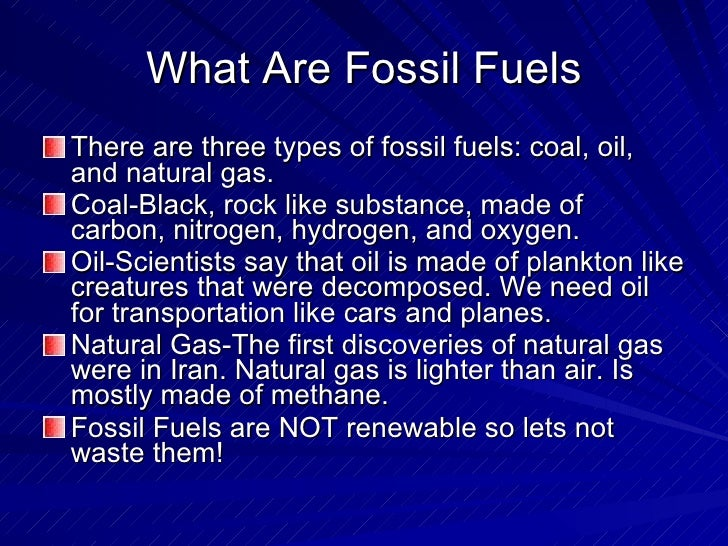 essay on save fossil fuels Essay on fossil fuels 7 july 2016 to summarize my essay fossil fuels are a depleting source of energy that is polluting earth and will soon run out.