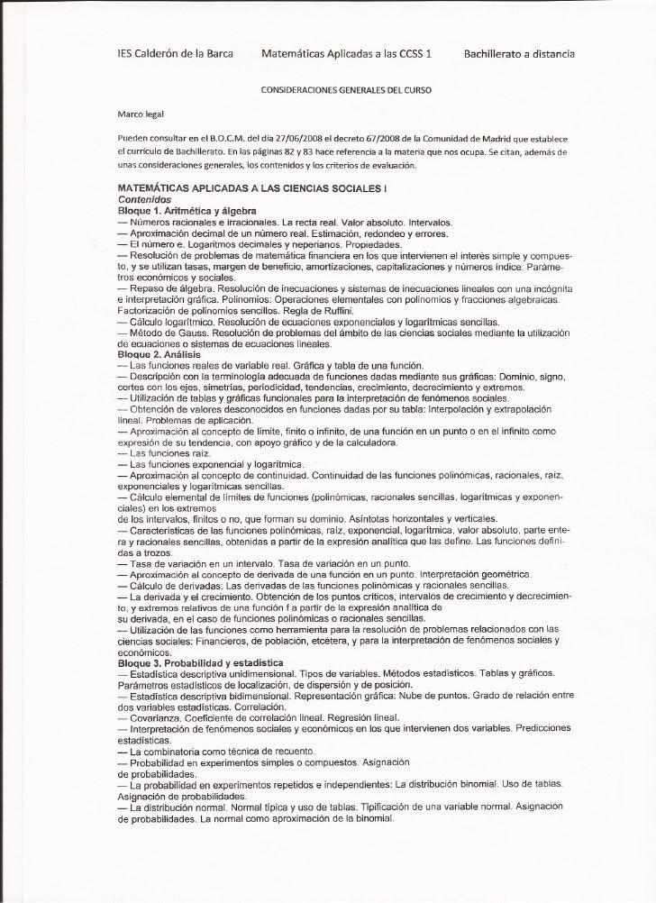 Consideraciones generales macs1