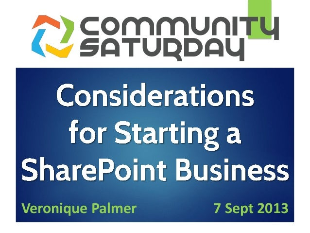 Considerations for Starting a SharePoint Business #SPSCPT