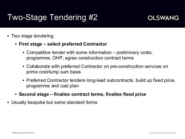 Considerations in procurement strategy 2014 olswang for Fixed price construction contract