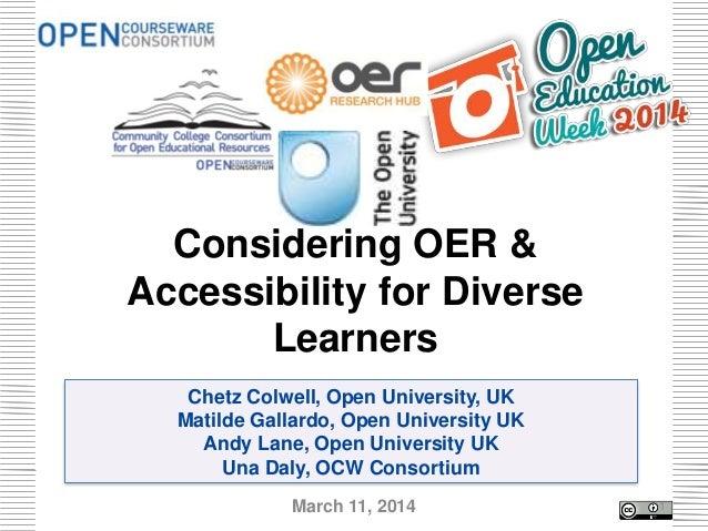 Chetz Colwell, Open University, UK Matilde Gallardo, Open University UK Andy Lane, Open University UK Una Daly, OCW Consor...