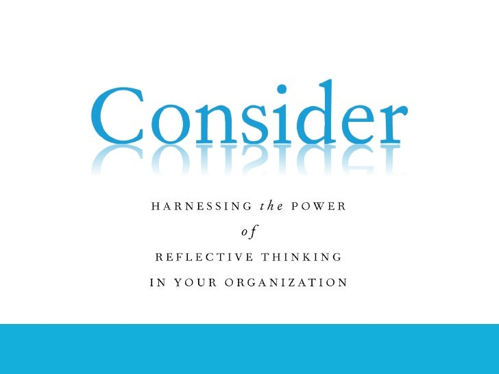 Harnessing Reflective Thinking in Government