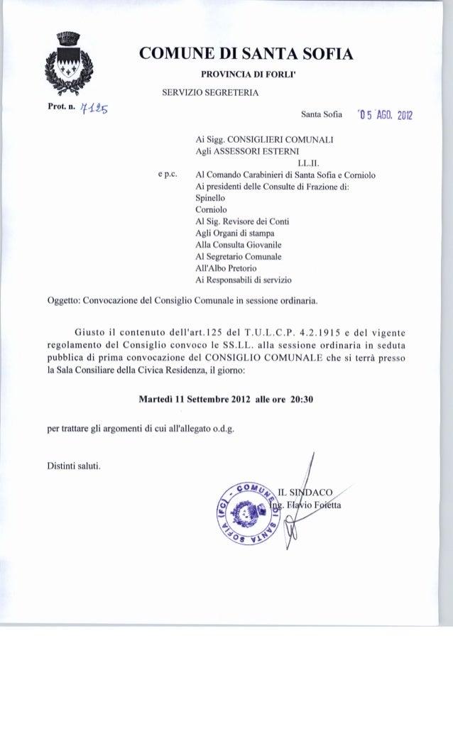 Consiglio comunale 11/09/2012