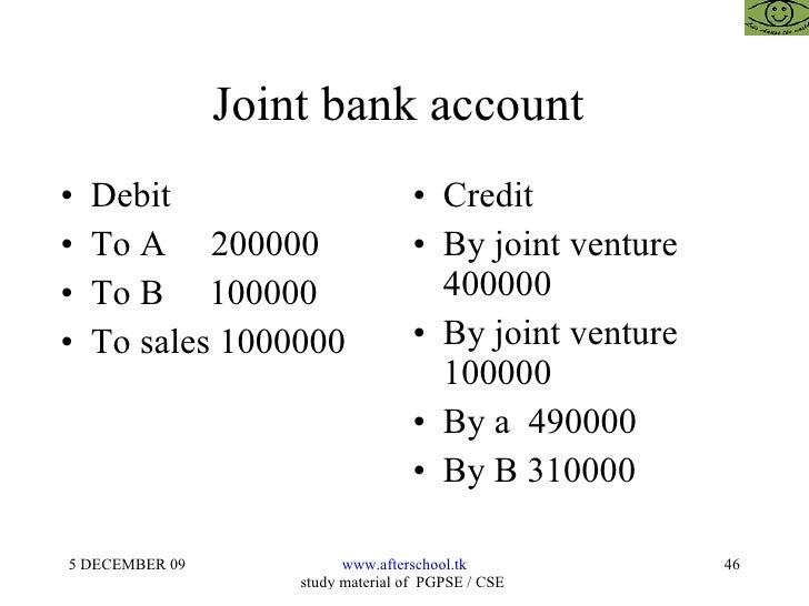 Joint Bank Accounts?