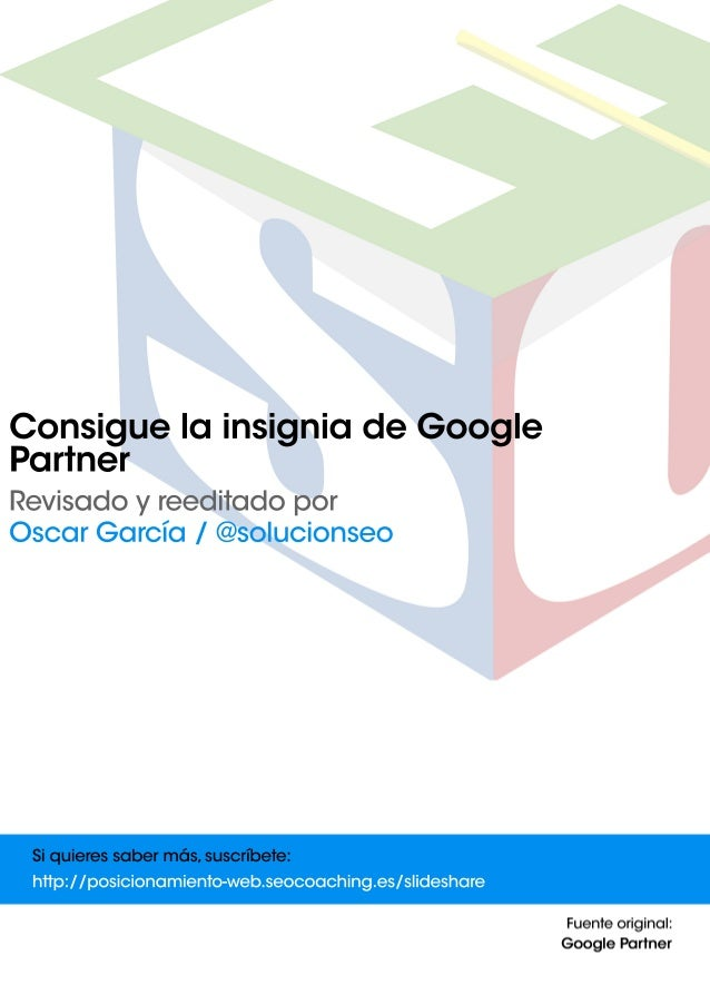 Consigue la insignia de Google Partners