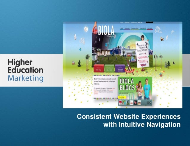 Consistent Website Experiences with Intuitive Navigation Slide 1 Consistent Website Experiences with Intuitive Navigation