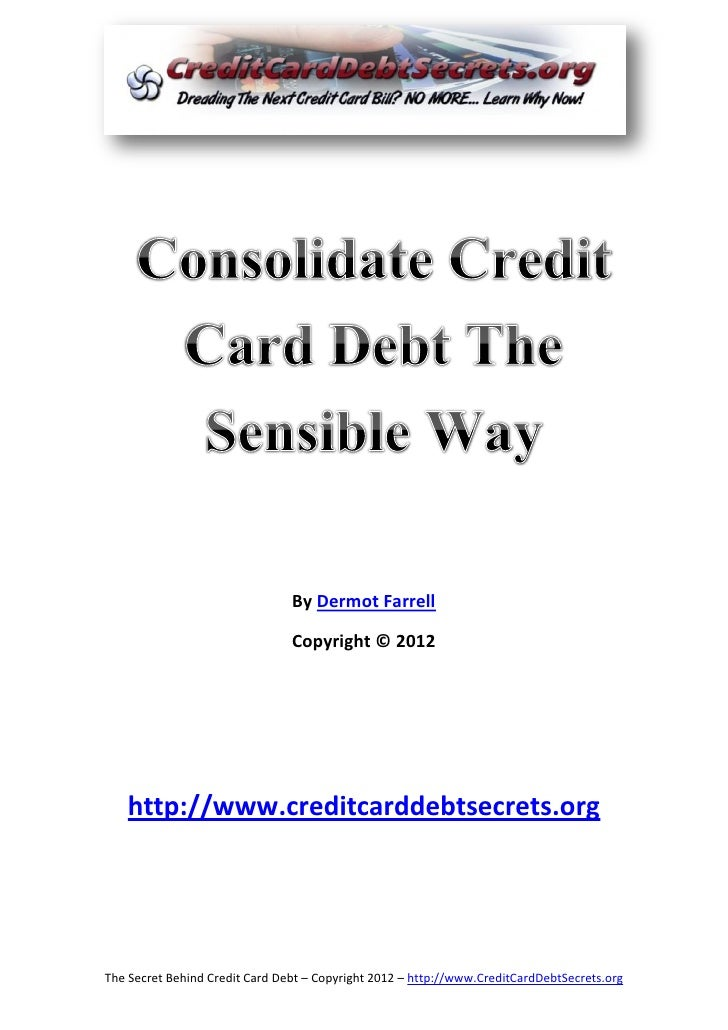 Consolidate credit-card-debt