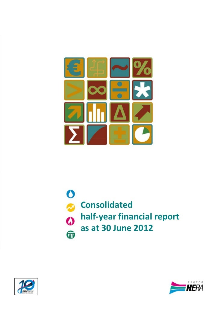 Half‐year financial report as at 30 June 2012