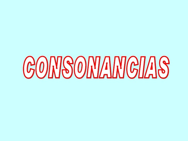 CONSONANCIAS