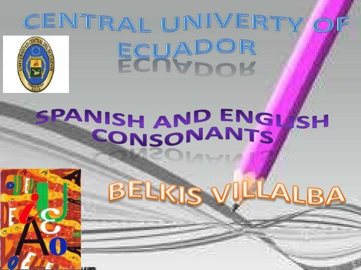 English Consonants  by Belkis Villalba