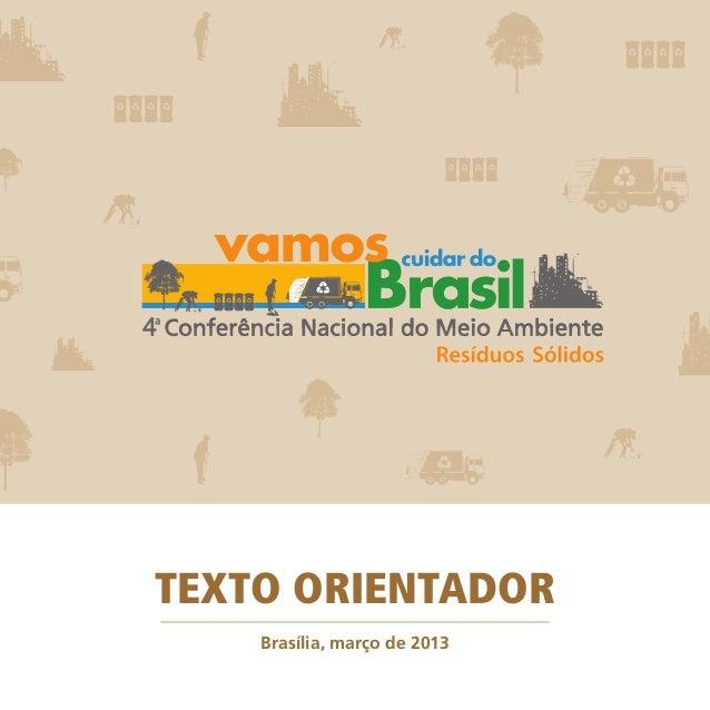 TEXTO ORIENTADOR Brasília, março de 2013
