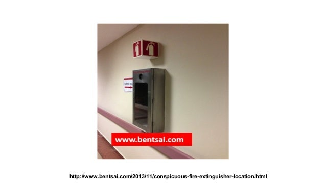 Conspicuous #fire extinguisher sign that alerts you from a distance