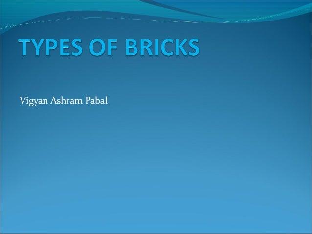 Construction brick types