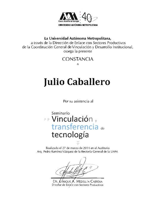 Transferencia de Tecnología Julio Cesar Caballero