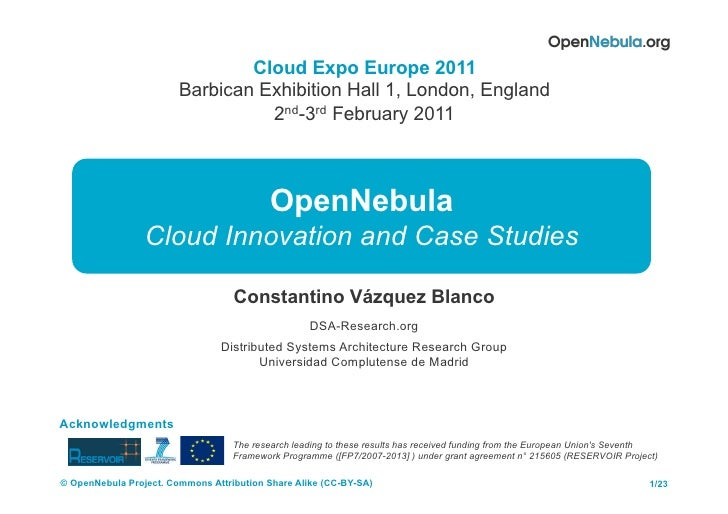 Cloud Expo Europe 2011                        Barbican Exhibition Hall 1, London, England                                 ...