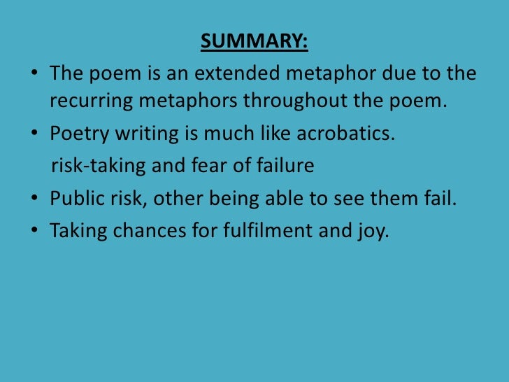 poetry interpretation essay