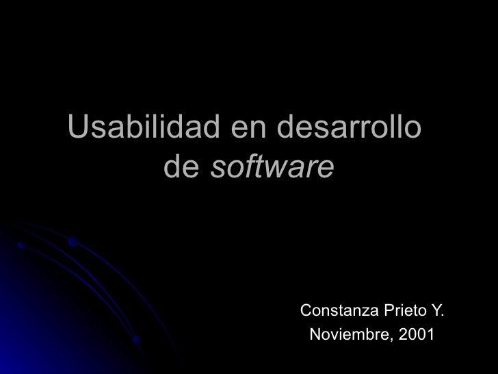 Usabilidad y Diseño de Software