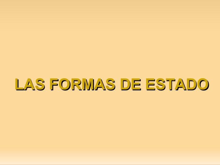 Las Formas del Estado.