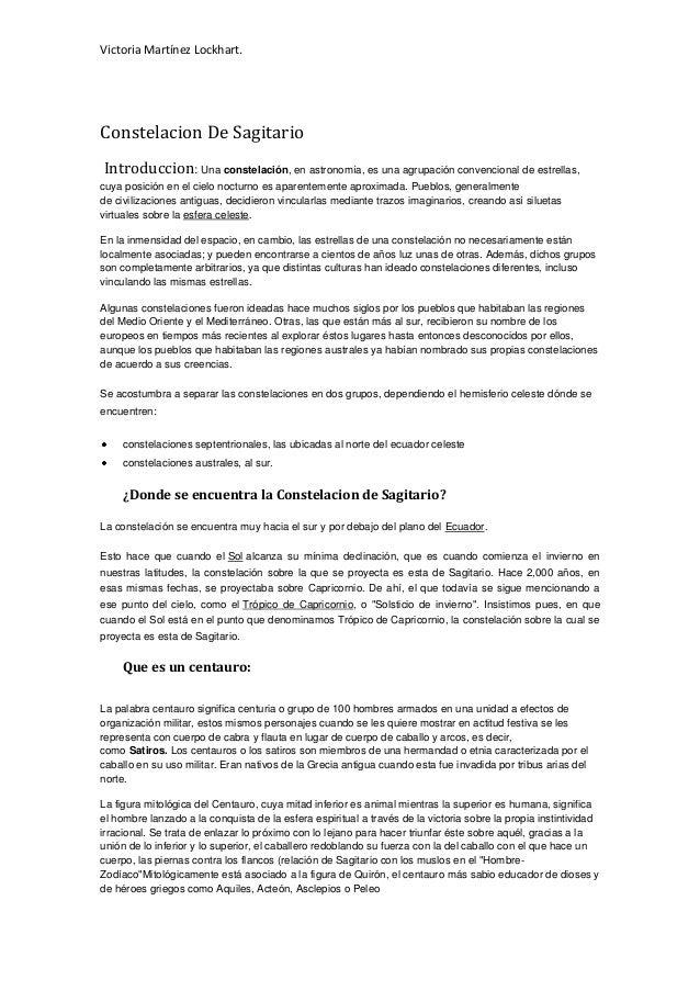 Victoria Martínez Lockhart.Constelacion De SagitarioIntroduccion: Una constelación, en astronomía, es una agrupación conve...