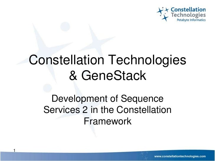 Sequence Services Phase 2 Webinar Series: Constellation Technology and Genestack