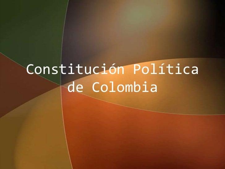 Constitución Política de Colombia<br />