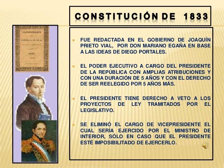 Resultado de imagen para constitucion politica de chile 1833