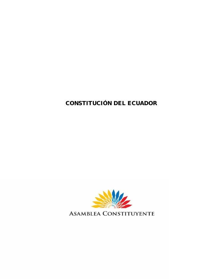 CONSTITUCIÓN DEL ECUADOR