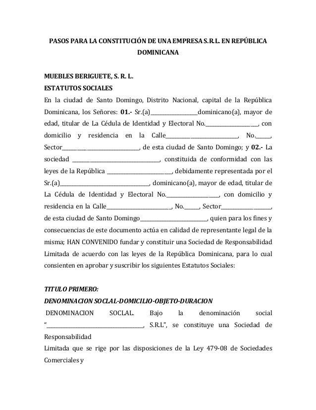 Constitucion de una empresa srl - photo#48
