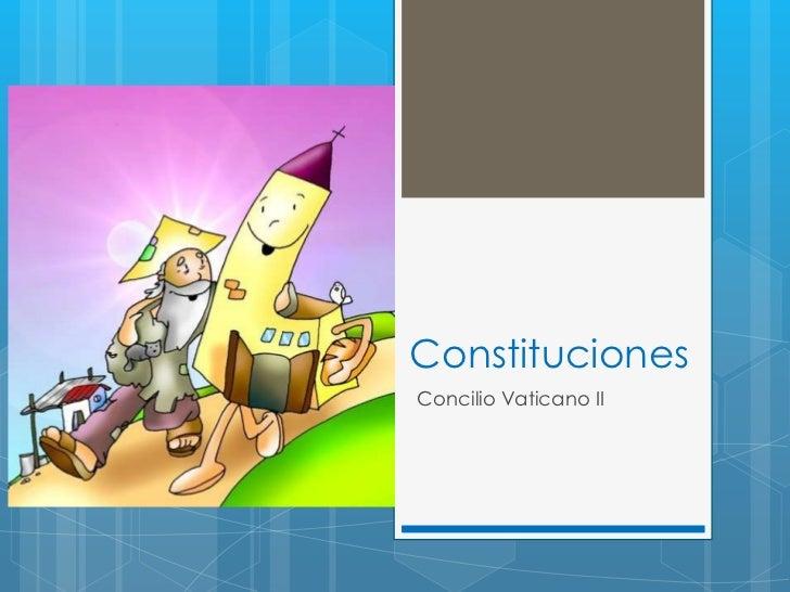 ConstitucionesConcilio Vaticano II