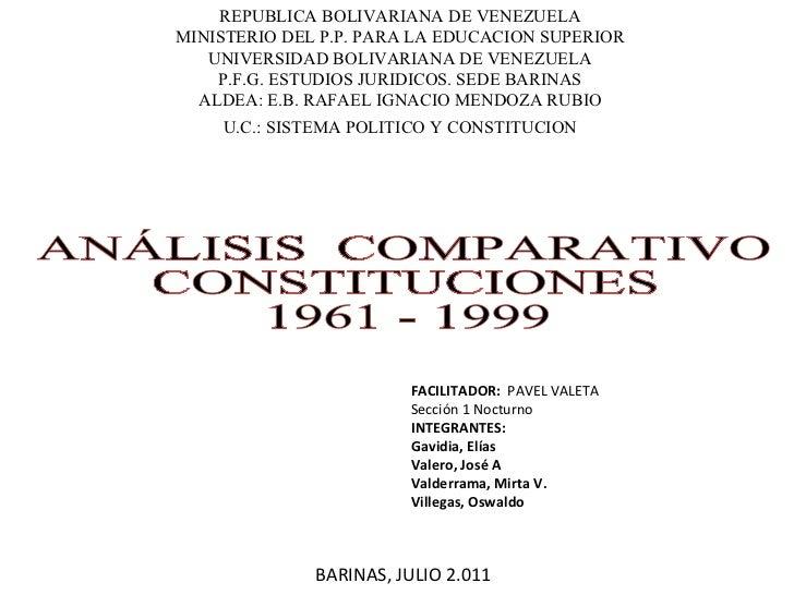 REPUBLICA BOLIVARIANA DE VENEZUELA MINISTERIO DEL P.P. PARA LA EDUCACION SUPERIOR UNIVERSIDAD BOLIVARIANA DE VENEZUELA P.F...