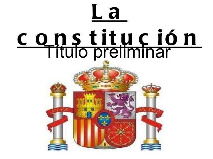 La constitución Título preliminar
