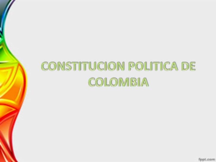 EL PUEBLO DE COLOMBIAen ejercicio de su poder soberano, representado porsus delegatarios a la Asamblea NacionalConstituyen...