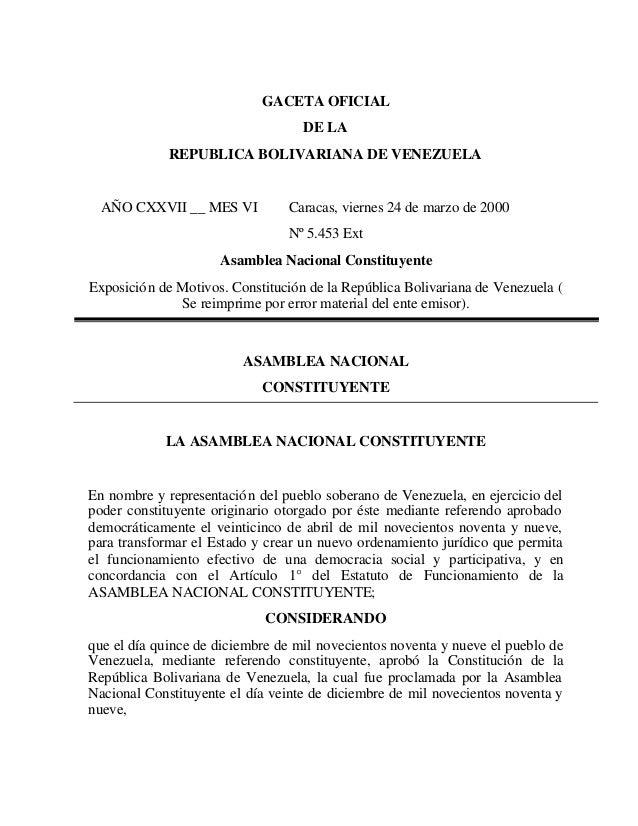 Constitucion venezuela