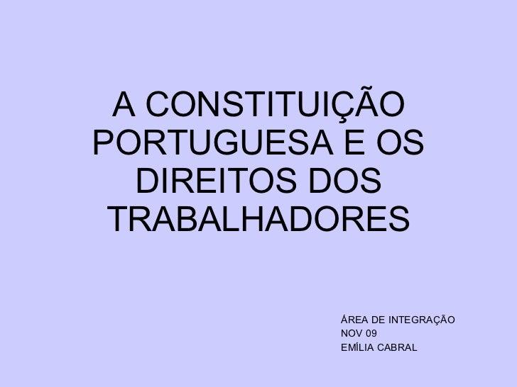 Constituiçao e Trabalho