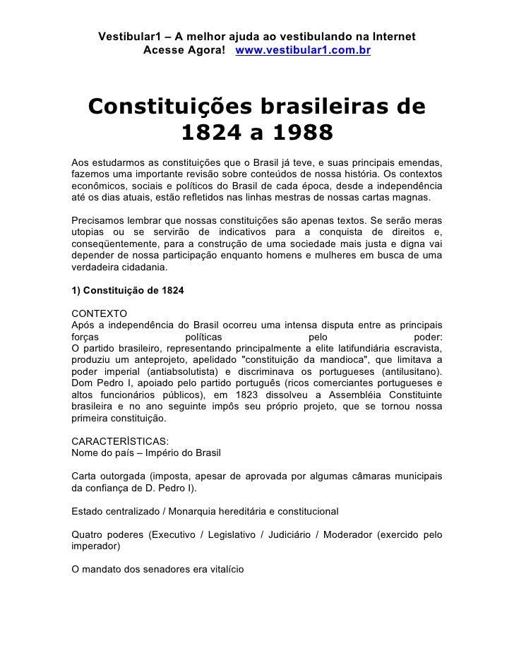 Vestibular1 – A melhor ajuda ao vestibulando na Internet               Acesse Agora! www.vestibular1.com.br        Constit...