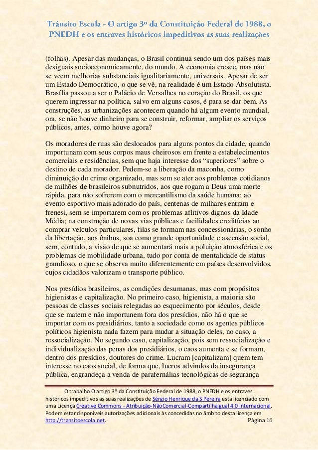 Artigo 3 da constituicao federal