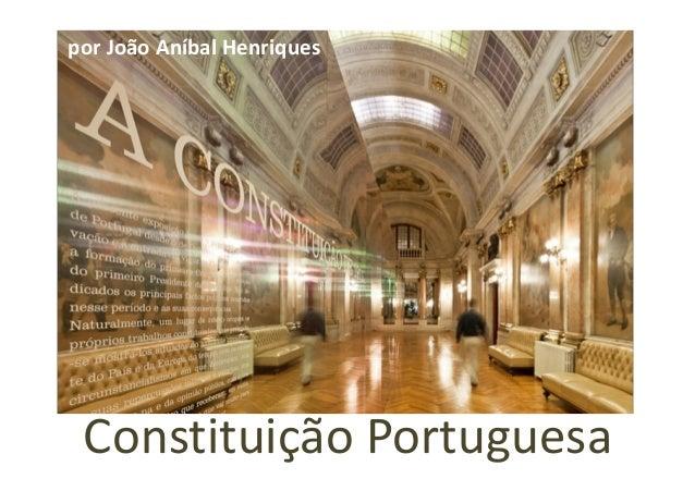 Constituição Portuguesa por João Aníbal Henriques