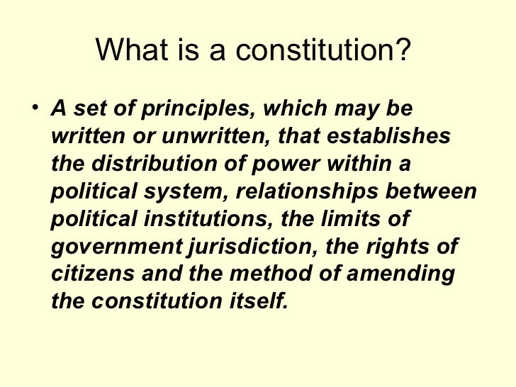 Should britain have a written constitution essay