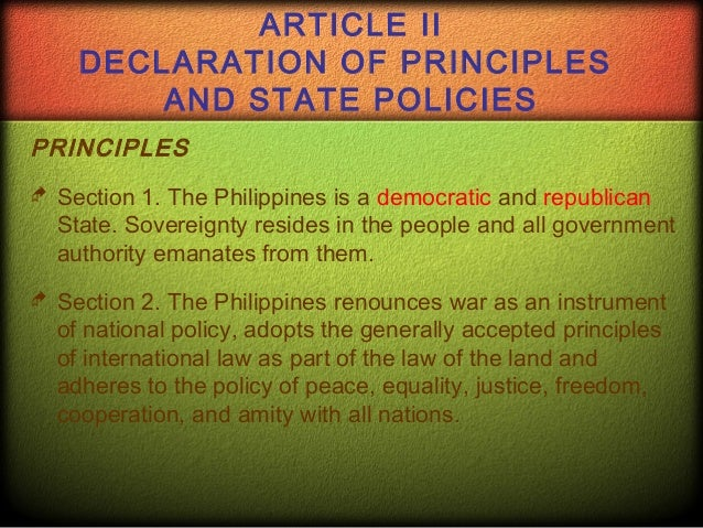 article ii of philippine constitutiions