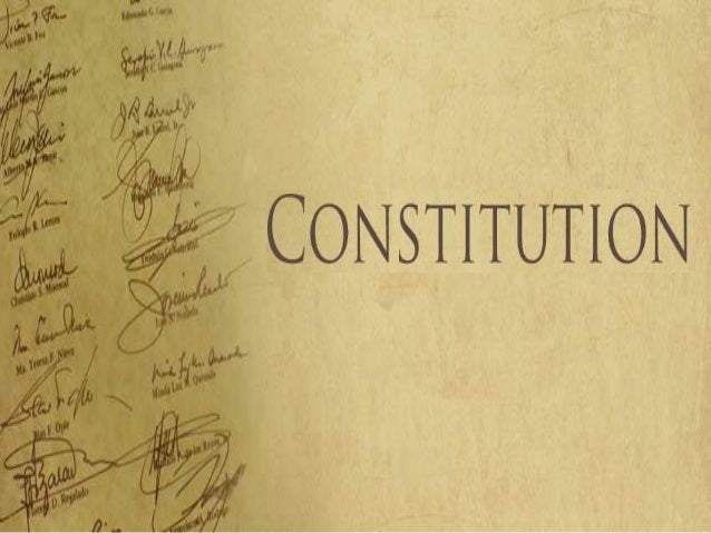 """CONSTITUTION IS DEFINED AS: """"The body of those written or unwritten fundamental laws which regulate the most important rig..."""