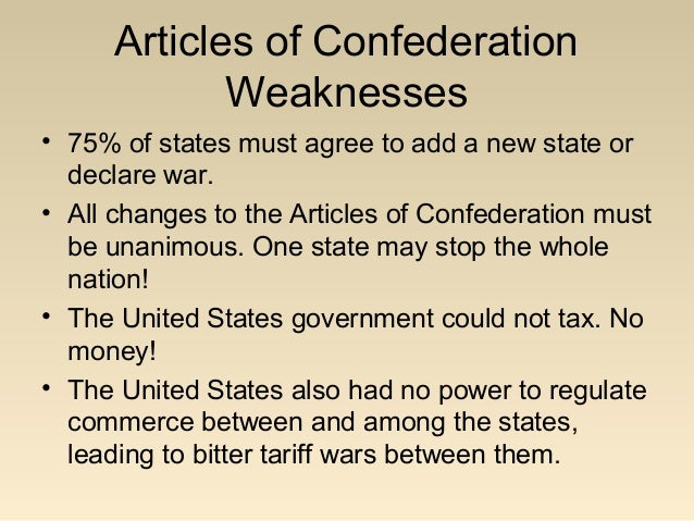 essay on the articles of confederation vs the constitution